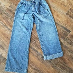 Gap wide leg pdenim pants 6
